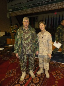 LCol Sutherland in Kabul with her Principal